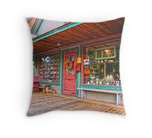 Colorful Antique Storefront Throw Pillow