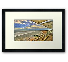 lunch view Framed Print