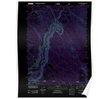 USGS Topo Map Oregon Chicken Hills 20120221 TM Inverted Poster
