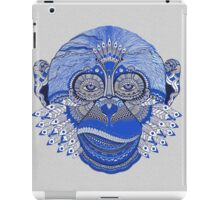 MONKEY COLLECTION BLUE INDIE FEATHER iPad Case/Skin
