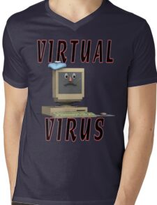 Virtual Virus Mens V-Neck T-Shirt