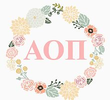 Alpha Omicron Pi Letter Design by Sara Ellen Thomas