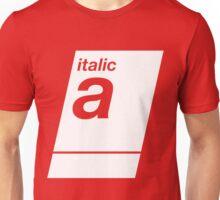 italic white Unisex T-Shirt