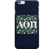 Alpha Omicron Pi Letters iPhone Case/Skin