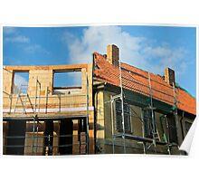 Restoration work, Stralsund, Germany. Poster