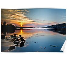 Loch Dunvegan sunset Poster