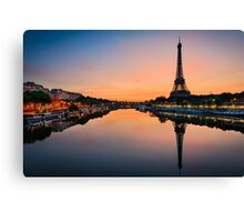 Along the Seine Canvas Print