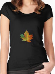 Red Maple Leaf Women's Fitted Scoop T-Shirt