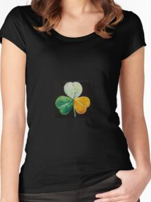 Irish Shamrock Women's Fitted Scoop T-Shirt