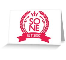 SONE est.2007 Greeting Card