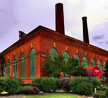 the old Powerhouse in the Cleveland Flats by Marcia Rubin