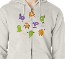 Colorful funny monsters Zipped Hoodie