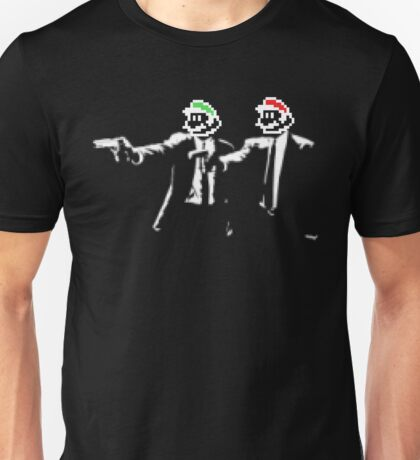 Plumber Fiction - Pulp Fiction x Super Mario Parody Unisex T-Shirt