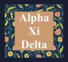 Alpha Xi Delta Letter Design One Piece - Short Sleeve