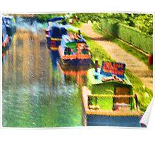 Barges at Hebden Bridge Poster