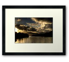 Lough Leanne Sunset Framed Print
