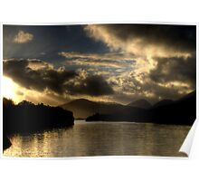 Lough Leanne Sunset Poster