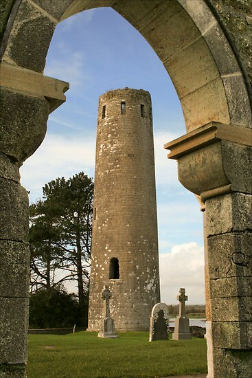 Clonmacnoise Tower & The Whispering Arch by Mark Lyons