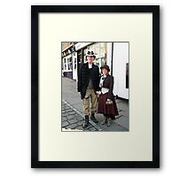 Miss Demeanour and Trapper Dan Framed Print