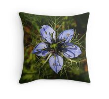 """Love in a Mist"" (Nigella) Throw Pillow"