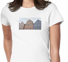 Pastel Houses - JUSTART ©  Womens Fitted T-Shirt