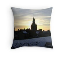 Sundogs, sunset behind City Chambers, Dunfermline Throw Pillow