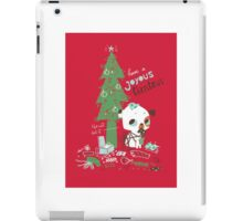 The cat did it  - Christmas card iPad Case/Skin