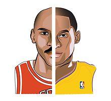 Jordan Kobe // Michael Jordan and Kobe Bryant by marancia
