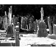 Gravestones, St. Mary's Church, Eastham Photographic Print