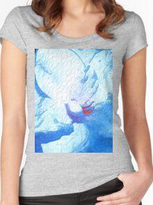 Skyflower macro Women's Fitted Scoop T-Shirt