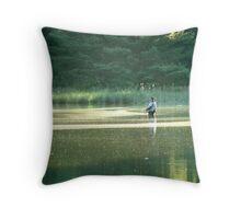 The Angler Throw Pillow