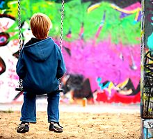 Berlin kid and the wall by remos