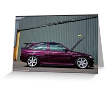 Escort Cosworth Monte - Side Shot Greeting Card