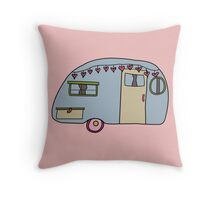 Retro camper Throw Pillow