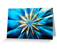 Blue Glass Flower Greeting Card