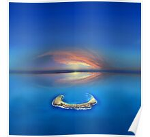 Sunset over Molokini in Hawaii Poster