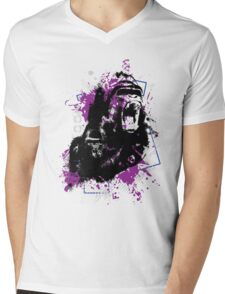 Gorillas Mens V-Neck T-Shirt