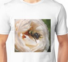 Busy Bee on a Rose Unisex T-Shirt