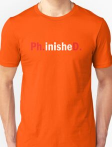 Ph.inisheD. Funny PhD Doctorate Gift T-Shirt