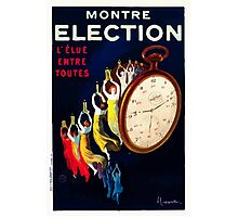 Leonetto Cappiello Affiche Montre Élection Photographic Print