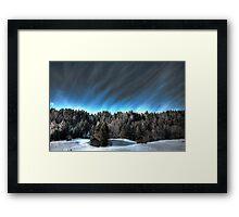 Alpine skies Framed Print