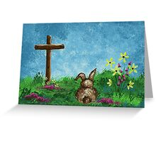 The Bunny & The Cross Greeting Card
