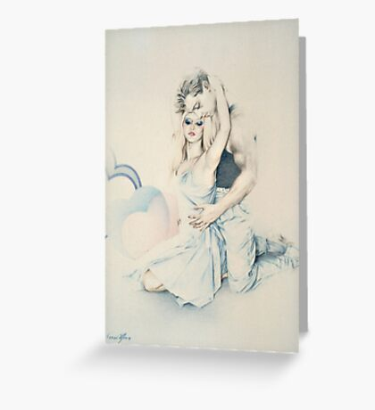 Affection (Pastel Pencil) Greeting Card