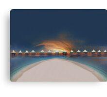 Sunset at tahiti Canvas Print