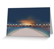 Sunset at tahiti Greeting Card