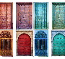 Vintage doors by Brünø Beach .