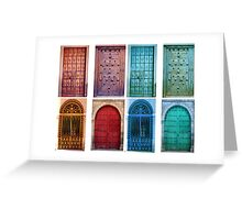 Vintage doors Greeting Card