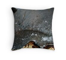 Hill family abstract Throw Pillow