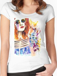 cry  Women's Fitted Scoop T-Shirt