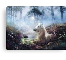 Cast in Stone, Unicorn Canvas Print